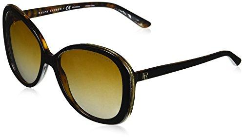 Ralph lauren 0rl816660t5, occhiali da sole donna, nero (top black/havana jerry/polargradientbrown), 57