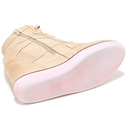 3249I sneakers zeppe donna JEFFREY CAMPBELL napoles scarpe shoes women Beige/Rosa