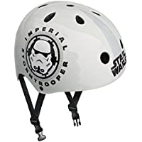 Stamp Star Wars casco de Skateboard para niño, color blanco