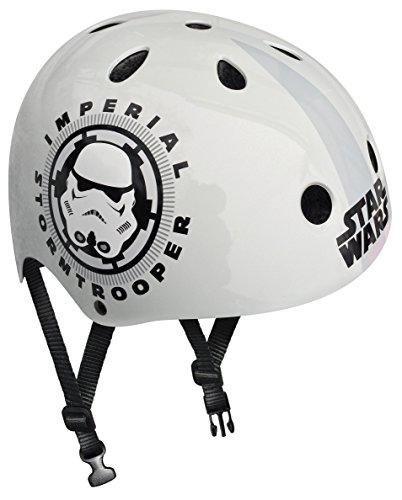 Stamp Star Wars casco de Skateboard para niño, color blanco