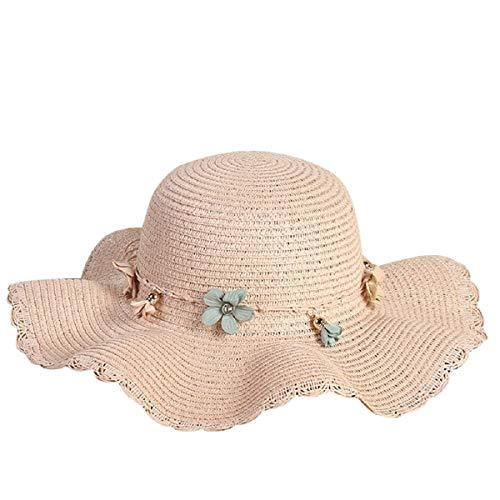 Barlingrock Strohhut große Krempe Sonnenhut Frauen Sommer Strand Cap Outdoor-Hüte Reversible Cloche Hut