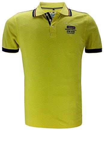 Twinlife Herren Poloshirt Gelb