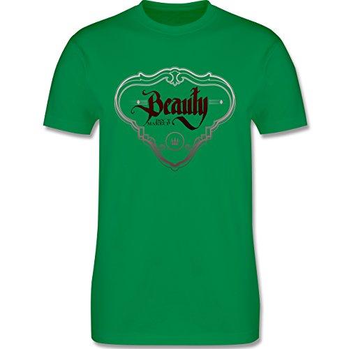 Statement Shirts - Beauty isn´t Makeup - Herren Premium T-Shirt Grün