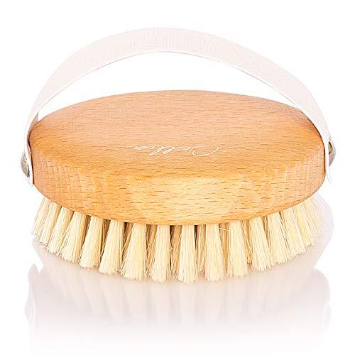 CELLIA Körperbürste rund 100% Naturborsten zur Trockenbürsten Massage (dry brush), Lymphdrainage und Bekämpfung von Cellulite | regionales, FSC-zertifiziertes Buchenholz | hergestellt in DE (Beauty You 4)