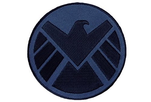 Right Facing Eagle Avengers Shield Logo Shoulder Cap Iron on Patch by Avenger