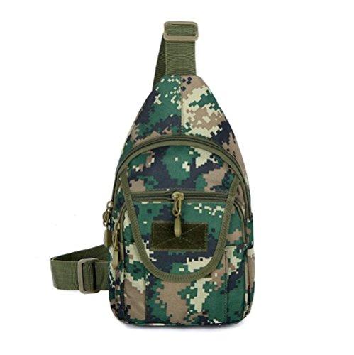Wmshpeds Esterno in tela di mimetizzazione uomini casual sports borsa a tracolla messenger femmina sacchetto tattiche selvatici coreano piccola borsa del torace D