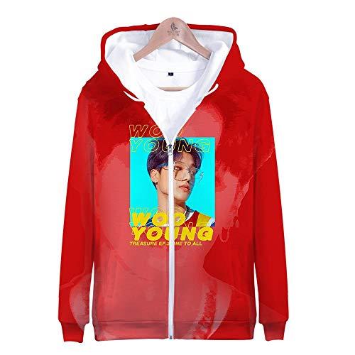 er,Unisex 3D Gedruckte Song Und Tanz Kombination Thema Jugend Kapuzen Sweatshirt Lose Reißverschluss Hoodie Lässig Paar Hemd, Ateez, M ()