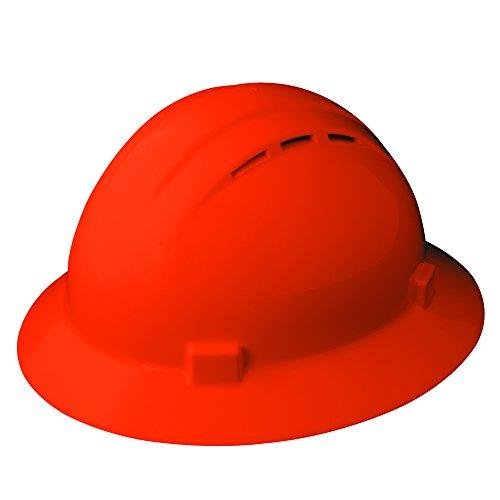 Erb Safety Products 19437americana Full Brim Vent Mega Ratchet Hi-Viz, size: 61/2–8, arancione