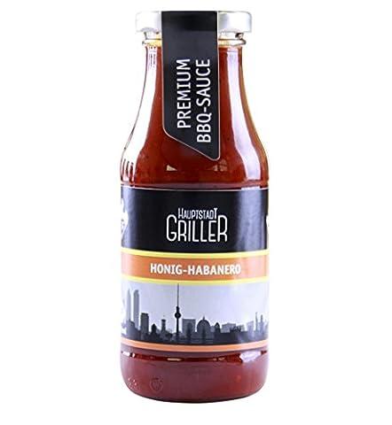 Hauptstadtgriller BBQ Sauce Honig Habanero, Premium Grillsauce in Bio Qualität (1 x 240ml) (Bio-saison Salz)