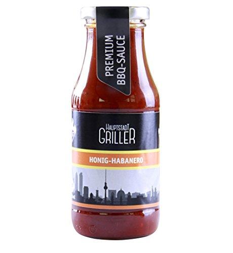 Hauptstadtgriller BBQ Sauce Honig Habanero, Premium Grillsauce in Bio Qualität (1 x 240ml)