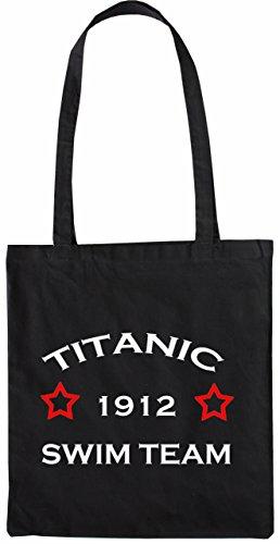 Mister Merchandise Tasche Titanic 1912 Swim Team Stofftasche , Farbe: Schwarz Schwarz