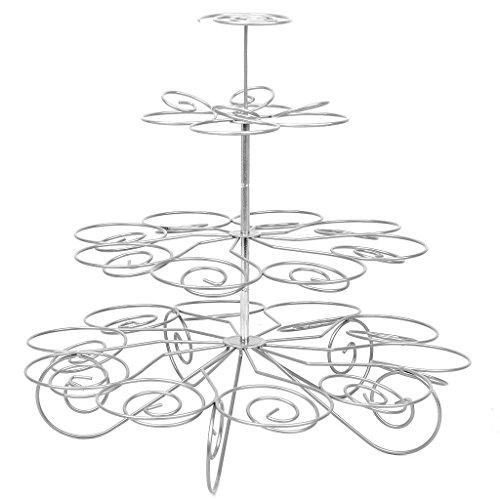 Soporte Metálico de 4 Capas para Cupcake Soporte de Árbol con Capacidad de 23 Cupcakes