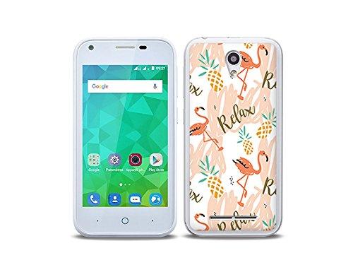 etuo Handyhülle für ZTE Blade L110 - Hülle Fantastic Case - Rosa Flamingos - Handyhülle Schutzhülle Etui Case Cover Tasche für Handy