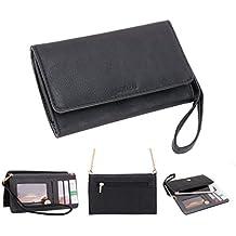Conze moda teléfono celular Llevar bolsa pequeña con Cruz cuerpo correa para Gionee Elife S7/S5.5/S5.1/E7Mini negro negro