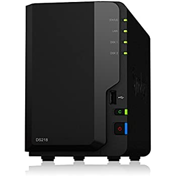 Synology DS218 8TB (2 x 4TB WD ROT) 2 Bay Desktop NAS-Einheit
