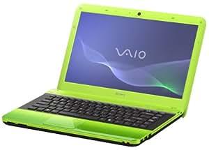 Sony Vaio EA1S1E/G 35,5 cm (14 Zoll) Notebook (Intel Core i3 330M 2,1GHz, 4GB RAM, 500GB HDD, ATI Mobility Radeon HD 5145, DVD, Win 7 HP) gr?n