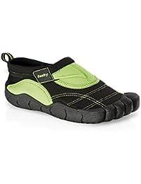 Fashy® Niños Aqua zapatos de mujer Lagos de neopreno con cierre de velcro y suela TPR–(7491de), Lagos, Gruen/Schwarz - (7491-60)