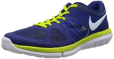 Nike Men's Flex 2014 Rn Msl Deep Royal Blue,White,Venom Green  Running Shoes -7 UK/India (41 EU)(8 US)