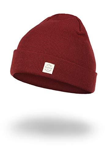 Blend Scam Herren Wintermütze Beanie Mütze Unisex Mit Logobadge, Größe:ONE SIZE, Farbe:Wood Red (73819)