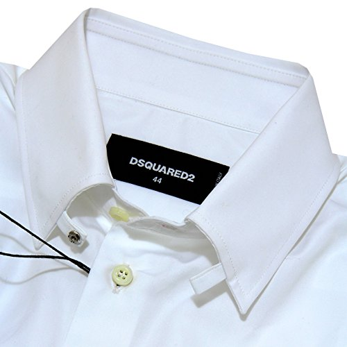 7968G camicia uomo bianca DSQUARED D2 manica lunga cotone camicie shirts men Bianco