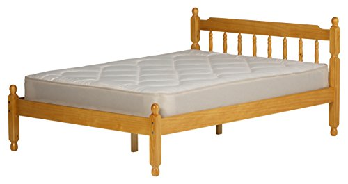 COLONIAL PINE WOOD DOUBLE BEDSTEAD