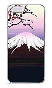 Coque iPhone 5/5S Motif Paysage de montagne fuji PC Coque pour iPhone 5 et 5S-Transparent