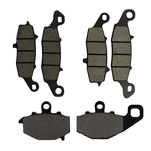 AHL Compatibile con pastiglie freno anteriore e posteriore per moto KAWASAKI KLE 650 A7F/A8F/A9F/CAF/CBF/CCF/CDF Versys 2007-2014