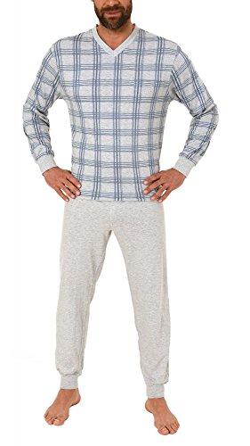 Herren Pflegeoverall langarm mit diagonalen Reissverschluss am Rücken 261 170 90 453, Farbe:grau-melange;Größe:XS