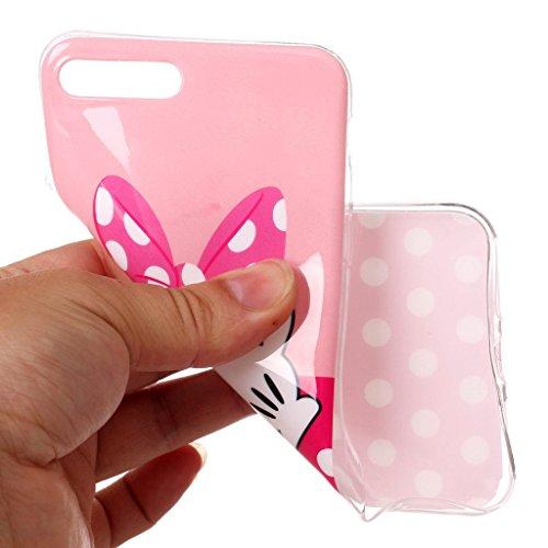 Per iPhone 7 Plus / iPhone 8 Plus Cover , YIGA rosa Cravatta di arco Cristallo Silicone Morbido TPU Case Shell Caso Protezione Custodia per Apple iPhone 7 Plus / iPhone 8 Plus (5,5 pollici) A8
