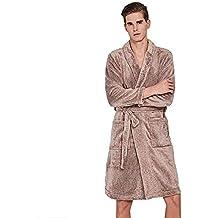 Albornoz para Hombre, Bata, Engrosamiento De Franela, Pijamas (1Pcs)