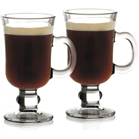 Maxwell & Williams - Juego de vasos altos para café irlandés (vidrio, 250 ml, 2 unidades, en caja regalo), transparente