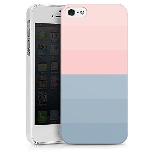 artboxONE Handyhülle iPhone 6/6S Rose Blue Stripes - Abstrakt Pastell - Smartphone Case mit Kunstdruck hochwertiges Handycover kreatives Design Cover aus hartem Kunststoff von Tim Löhrs Hard Case weiß
