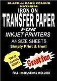 Transferpapier, Zum Aufbügeln auf T-Shirts &Stoff Transferpapier für Dunkle Stoffe, Laserdrucker, A4, 10 Blatt