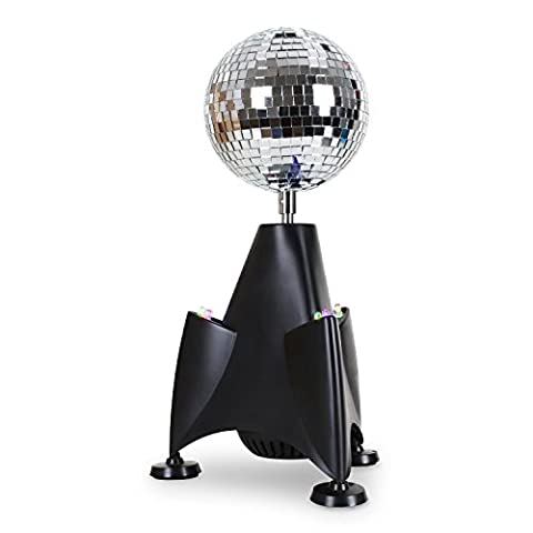 oneConcept Rocket-Mirror-Ball Raketen-LED-Discokugel Diksolicht LED-Lichteffekt fürs Regal zuhause (13cm Diskokugel,