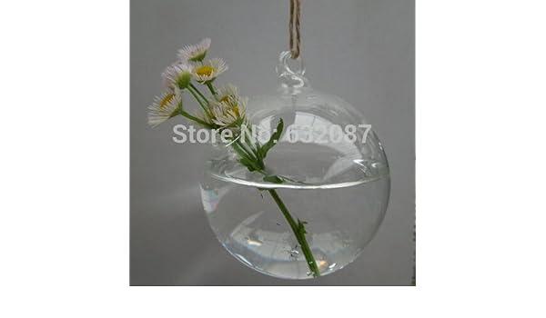 Buy Different Size 8pcs Pack Glass Ball Terrarium Vase Home