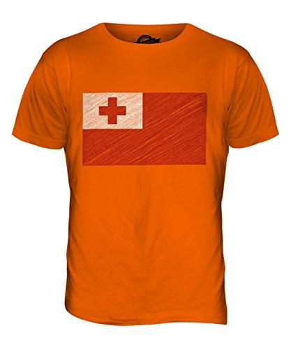 CandyMix Tonga Kritzelte Flagge Herren T Shirt Orange