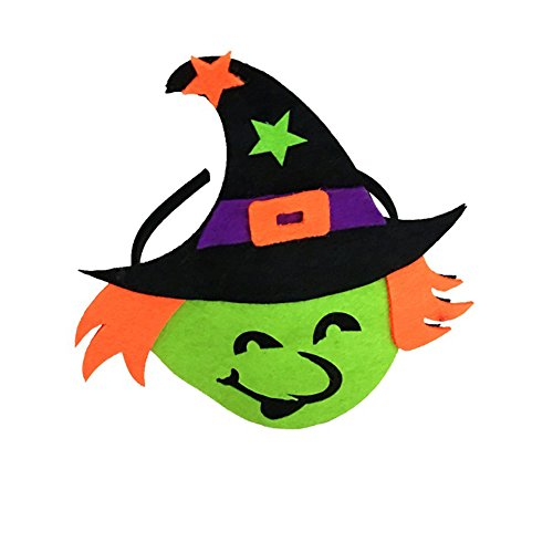 beiguoxia Let's Party Halloween Geist Hexe Fledermaus Stirnband Kürbis Haarreif Kopfbedeckung Kostüm Zubehör - Fledermaus *, Stoff, einfarbig, Witch