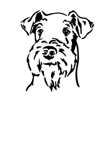 amberdog Autoaufkleber Airedale Terrier Kopf Art.Nr.ATK0162 Auto Aufkleber Wohnmobil Wohnwagen Hundekopf