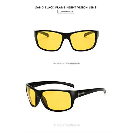 Taiyangcheng Männer Polarisierte Sonnenbrille Goggle Style Driving Brille Outdoor Sonnenbrille Für Männer Eyewear Zubehör,Nachtsicht