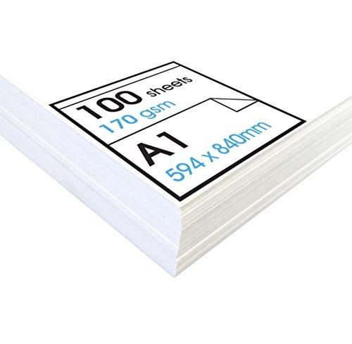 Artway Studio - Zeichenpapier für Trockene Zeichen- und Maltechniken - säurefrei - Lose Blätter - 170 g/m² - A1 (100 Blatt) (Das Papier Studio)