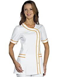 Robinson Mujer casaca con Brasilia Blanco + Naranja