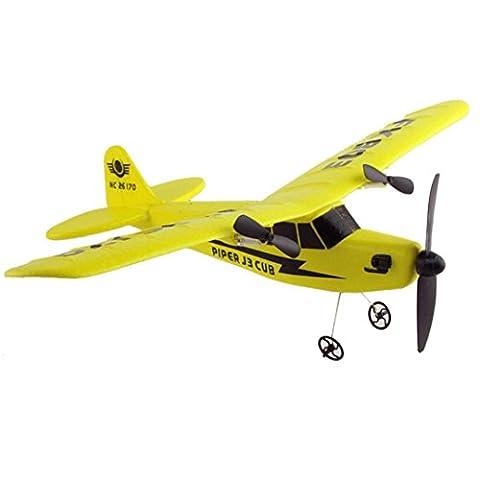DAYLIN 33 x 26cm (W x L) Remote Control RC Helicopter Plane Glider Airplane EPP foam 2CH 2.4G Toys (Yellow)