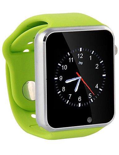 Casio Kamera Wasserdicht (Lemumu A1 Armbanduhr Bluetooth Smart Watch Sport Schrittzähler mit SIM-Kamera Smar twatch für Android Smartphone, Blau)