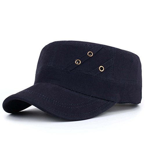 Hut/Herren flache Kappe/Military Cap/Lässige Männermode Cap/Herbst Schatten Sonnenhut/Outdoor-Sport Cap-B (Maid Kostüm Männer Französisch Für)
