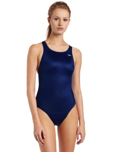 Speedo Damen Race Lycra-Mischgewebe Aquablade Recordbreaker Kneeskin Schwimmanzug für Badeanzug, Damen, Navy