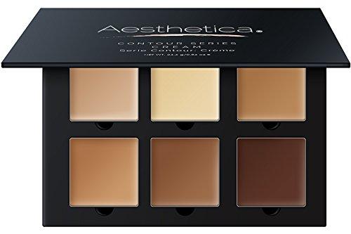 Aesthetica Cosmetics Palette de Crèmes Contouring et illuminateur - Fond de teint de contour/palette correctrice - Maquillage vegan et hypoallergénique - Consignes étape par étape incluses