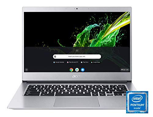 Acer Chromebook 514 (14 Zoll Full-HD IPS Touchscreen matt, Aluminium Unibody, 17mm flach, extrem lange Akkulaufzeit, beleuchtete Tastatur, Google Chrome OS, inkl. Maus + Protective Sleeve) silber