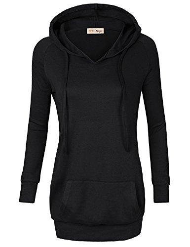 Timeson Damen Kapuzenpullover Gr. S, #06 Black (Fleece-6-pocket Pant)