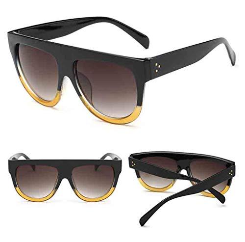 EUCoo Mode Liebhaber Sonnenbrillen 1 StüCk Doppel Meter Nagel Unisex Brille + Box Leopard Sonnenbrille(B)