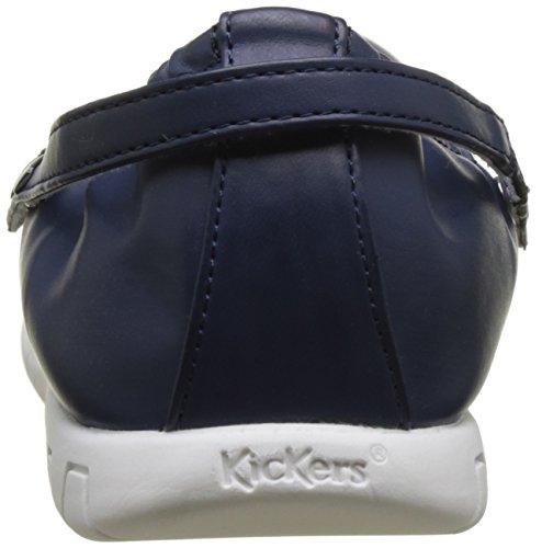 Kickers Belina, Ballerines Bout Fermé Femme Bleu (Marine)